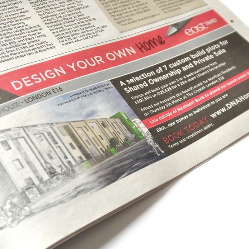 newspaper property advertising