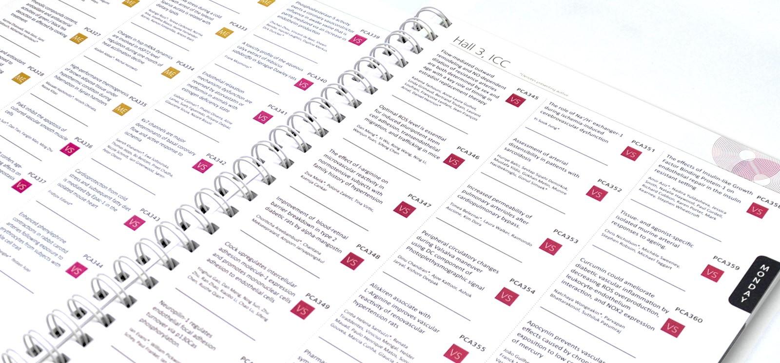 ringbound programme design