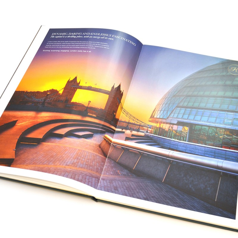 property brochure page spread