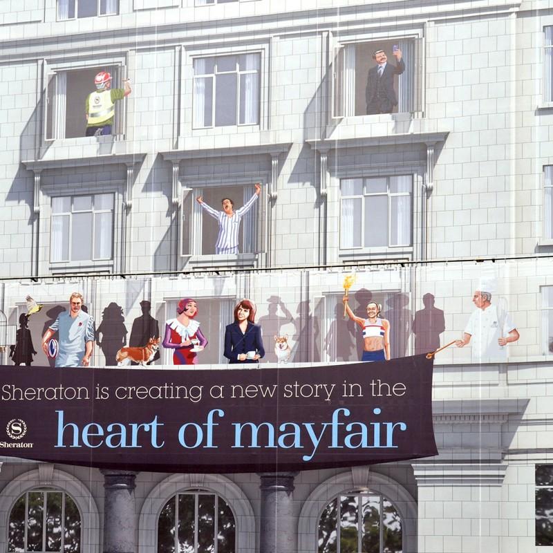 Mayfair Hotel Hoarding