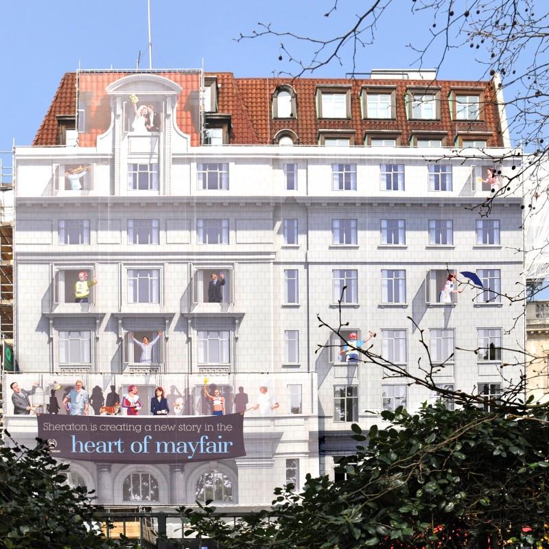 Hotel Building Wrap Design