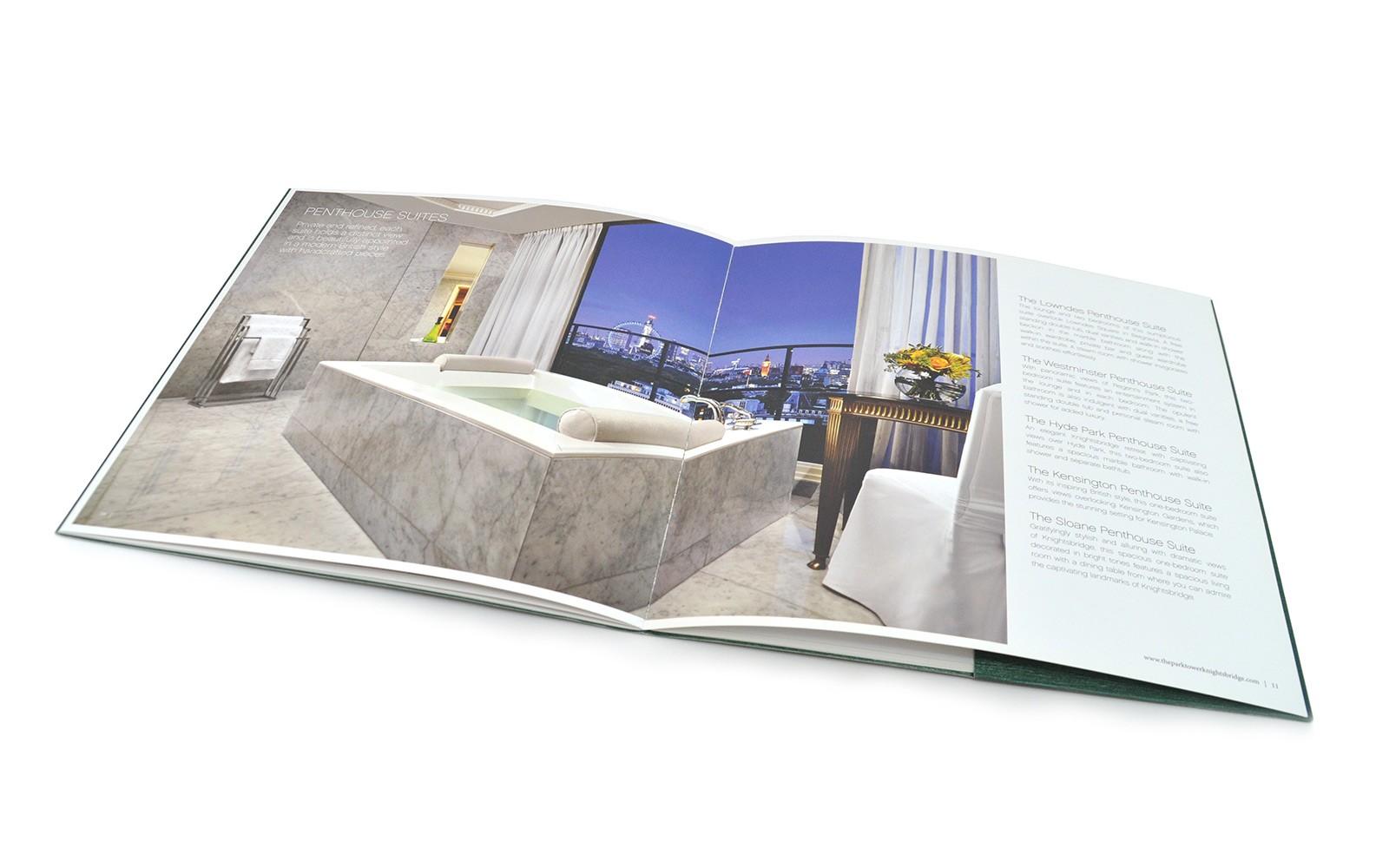 london hotel brochure design