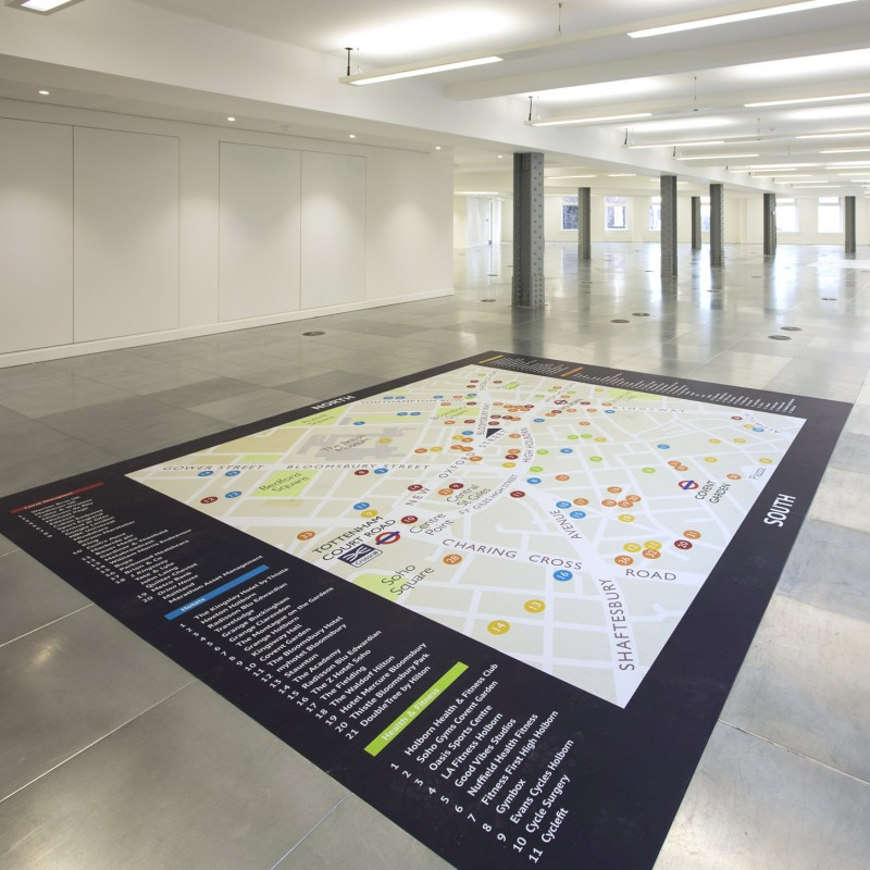 Commercial property floor signage