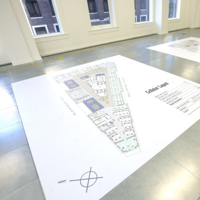 Commercial property floor graphics