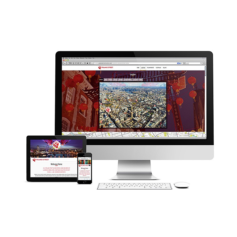 Advertising website for exalted realty company
