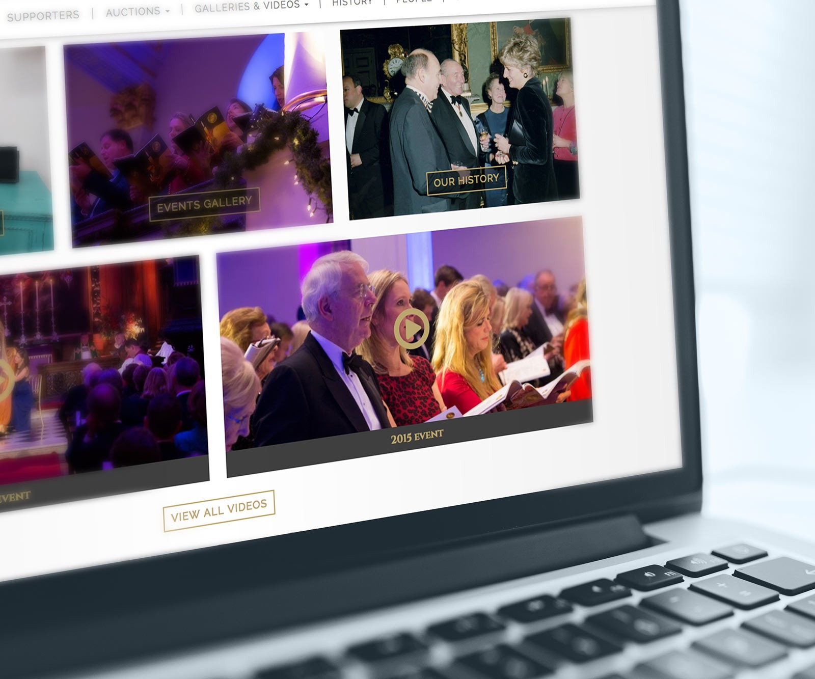 Charity Event Website Design