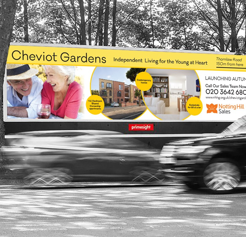 Retirement Property Advertising Signage