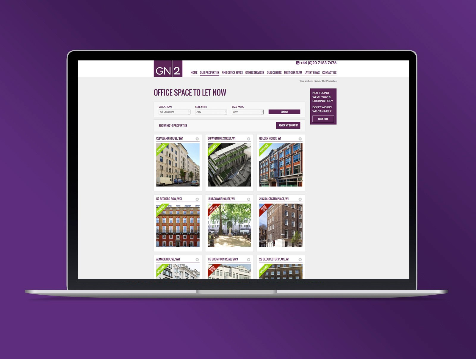 Commercial Property Search Website