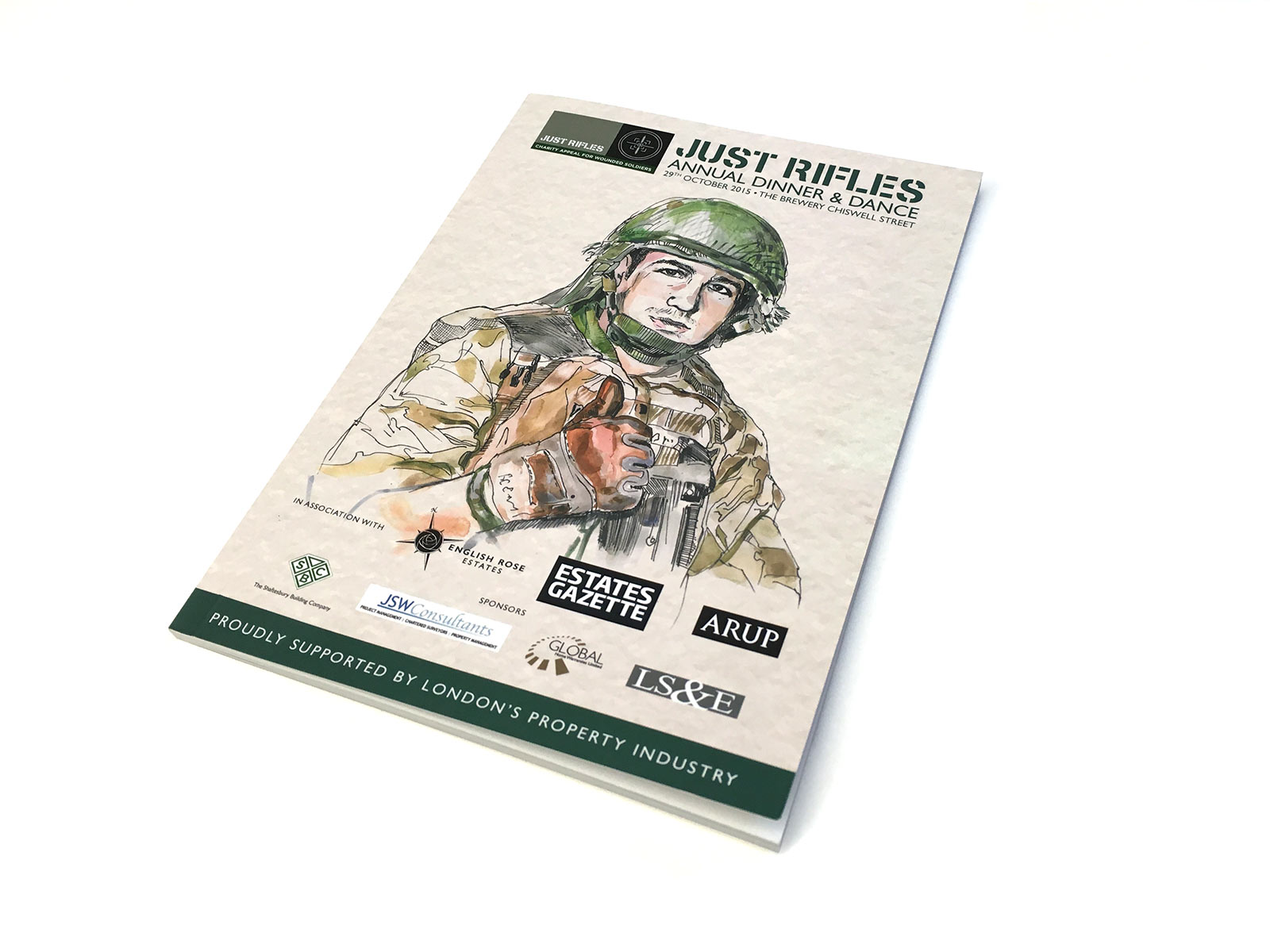 Just Rifles Programme cover 2015