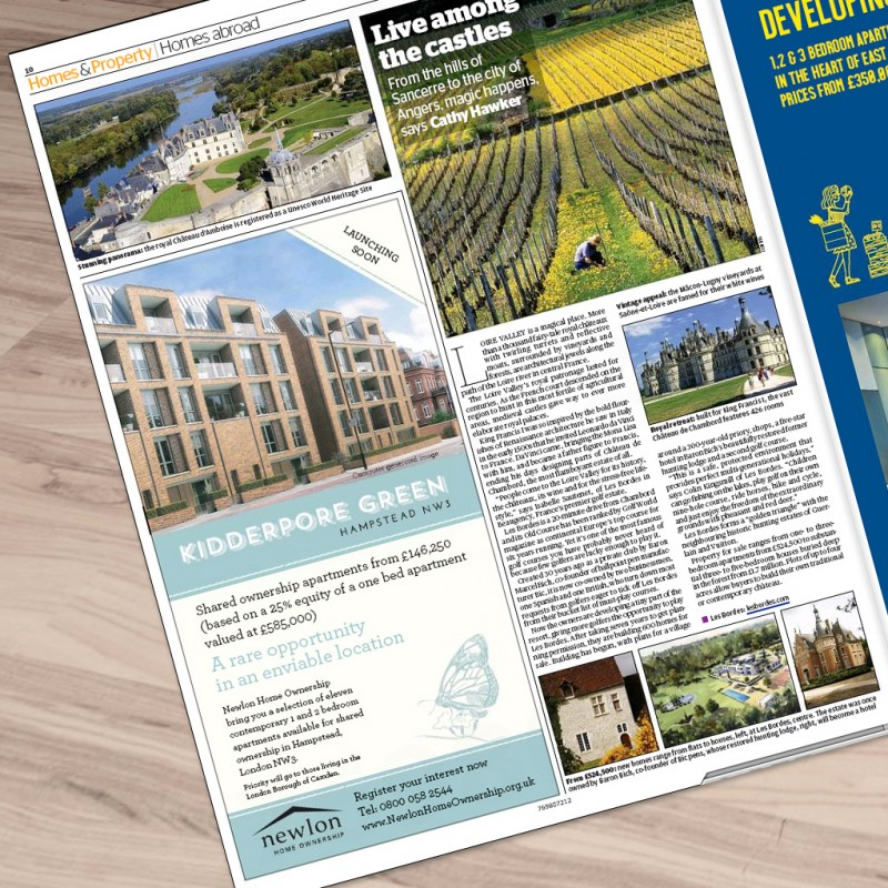 Property Section advert design